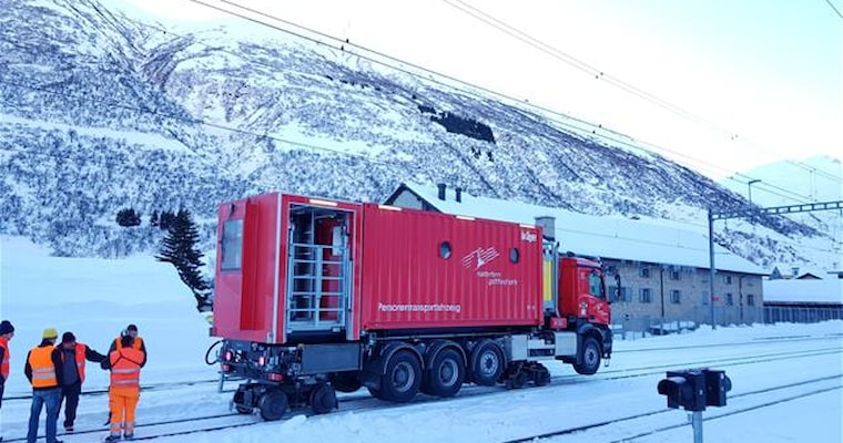 Tunnel Rescue Vehicle Matterhorn Gotthard Bahn